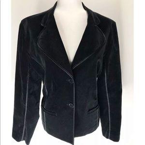 Jones New York Sport Black VelVet Woman's Blazer